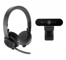 Веб-камера Logitech Pro Personal Video Collaboration Kit (Zone Wireless + BRIO) (991-000309)