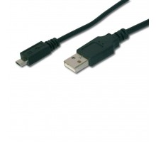 Дата кабель USB 2.0 AM to Micro 5P 1.8m DIGITUS (AK-300127-018-S)