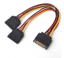 Кабель питания Atcom Sata power to 2x Sata power 0.2m (14366)