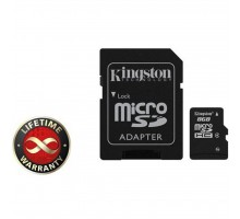 Карта памяти 8Gb microSDHC class 4 Kingston (SDC4/8GB)