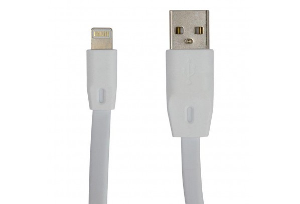 Дата кабель USB 2.0 AM to Lightning 1.0m DC-IP-102TF white Greenwave (R0014162)