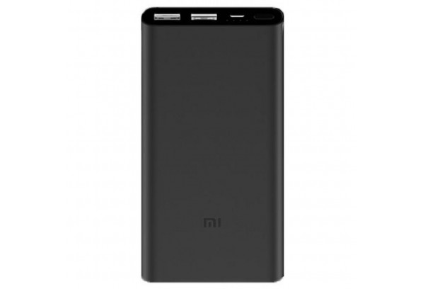 Батарея универсальная Xiaomi Mi Power Bank 2 10000 mAh QC2.0 (2.4A,2USB) (PLM09ZM) Black (VXN4229CN)