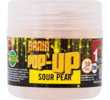 Бойл Brain fishing Pop-Up F1 Sour Pear (груша) 10 mm 20 gr (1858.01.87)