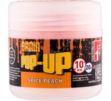 Бойл Brain fishing Pop-Up F1 Spice Peach (персик/специи) 10 mm 20 gr (1858.02.10)