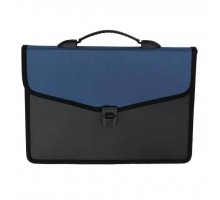 Папка - портфель BUROMAX 3 compartments, with a lock, blue (BM.3734-02)