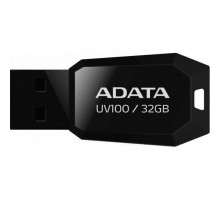 USB флеш накопитель ADATA 32GB DashDrive UV100 Black USB 2.0 (AUV100-32G-RBK)