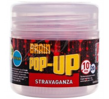 Бойл Brain fishing Pop-Up F1 Stravaganza (клубника с икрой) 10 mm 20 gr (1858.02.40)