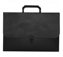 Папка - портфель BUROMAX 1 compartments, JOBMAX, black (BM.3735-01)