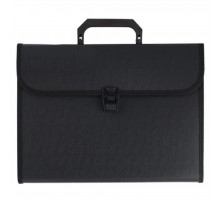 Папка - портфель NAVARRO 12 compartments,А4, textile sides, JOBMAX, black (nr.113101)