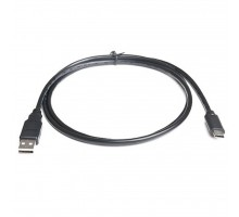 Дата кабель USB 2.0 AM to Type-C 1.0m Premium black REAL-EL (EL123500032)