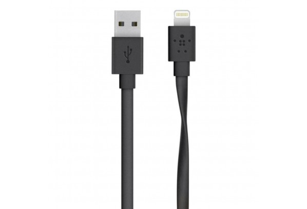 Дата кабель USB 2.0 AM to Lightning 1.2m Belkin (F8J148bt04-BLK)