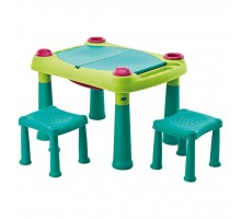 Детский стол Keter Creative Play Table + 2 stools (17184184857)