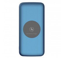 Батарея универсальная Vinga 10000 mAh Wireless QC3.0 PD soft touch blue (BTPB3510WLROBL)