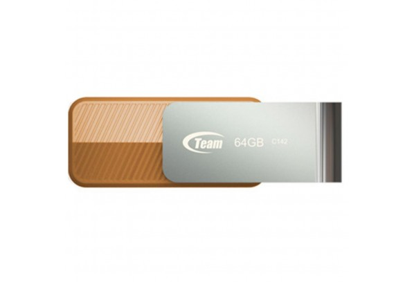 USB флеш накопитель Team 64GB C142 Brown USB 2.0 (TC14264GN01)