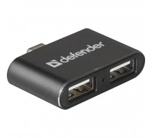 Концентратор Defender Quadro Dual USB3.1 TYPE C - USB2.0, 2 port (83207)