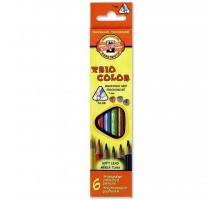 Карандаши цветные KOH-I-NOOR 3131 Triocolor, 6шт, set of triangular coloured pencils (3131006004KS)