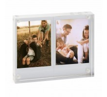 Фоторамка Fujifilm INSTAX MINI TWIN ACRYLIC PHOTO BLOCK TRANSPARENT (70100139556)