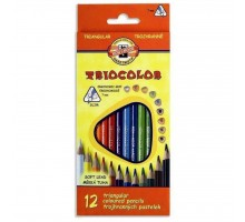 Карандаши цветные KOH-I-NOOR 3132 Triocolor, 12шт, set of triangular coloured pencils (3132012004KS)