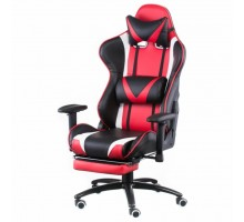 Кресло игровое Special4You ExtremeRace black/red with footrest (000003034)