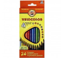 Карандаши цветные KOH-I-NOOR 3134 Triocolor, 24шт, set of triangular coloured pencils (3134024004KS)